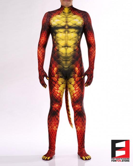 Snake Red Men PETSUIT S001M-RED