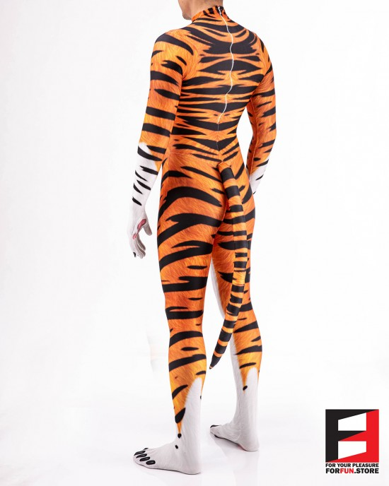 Tiger Cartoon Furry Men PETSUIT T003M