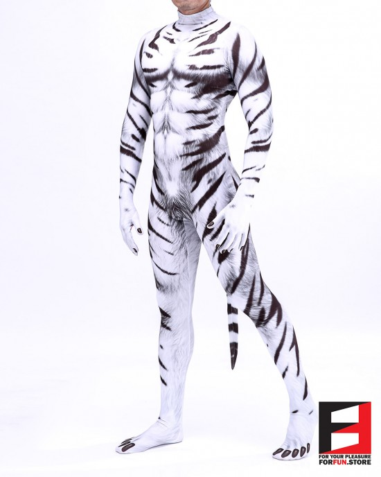 Tiger White PETSUIT T005