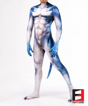 Wolf Blue Men PETSUIT W001M-BLUE