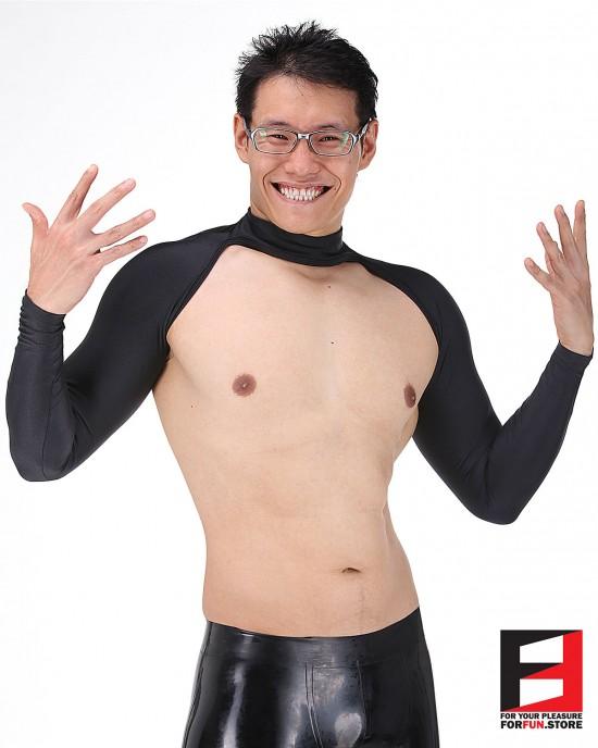 SPANDEX BODYLESS SHIRTS BLACK SHB