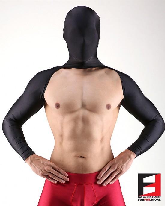 SPANDEX BODYLESS SHIRTS WITH MASK BLACK SHBM