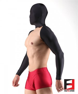 SPANDEX BODYLESS SHIRTS WITH MASK BLACK SHBM