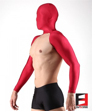 SPANDEX BODYLESS SHIRTS WITH MASK RED SHBM