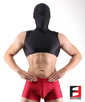 SPANDEX CROP BLACK WITH MASK SHCM