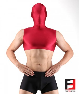 SPANDEX CROP RED WITH MASK SHCM