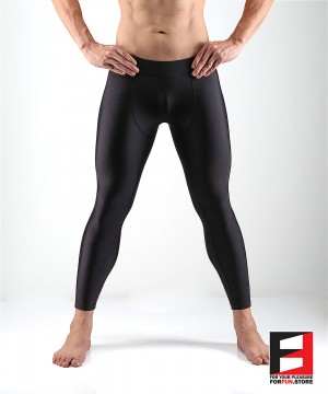 SPANDEX LEGGINGS BLACK (LOWER RISE) LGAL