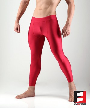 SPANDEX LEGGINGS RED (LOWER RISE) LGAL