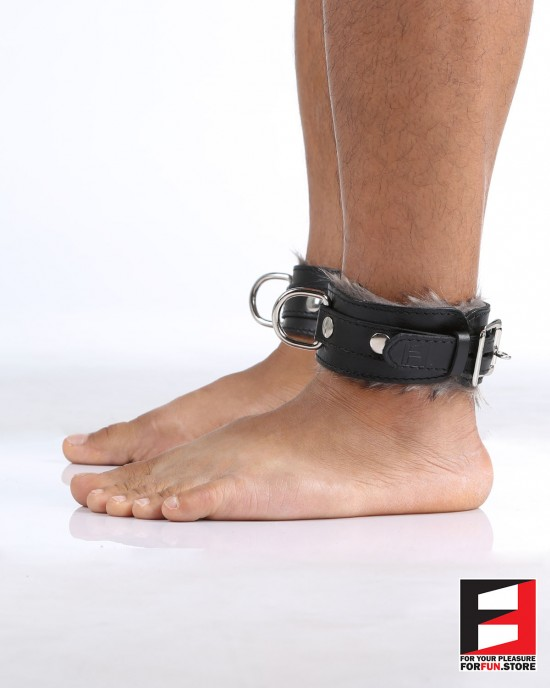 LEATHER WITH FUR ANKLE RESTRAINTS AK006
