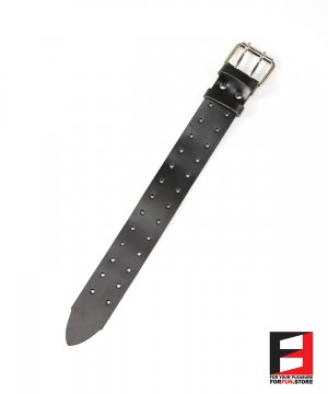 LEATHER BELT DOUBLE HOLES 50CM