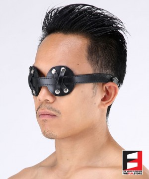 LEATHER TWO EYES BLINDFOLD BF004