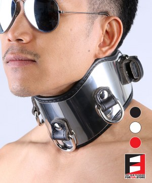LEATHER WITH STAINLESS STEEL POSTURE COLLAR CL004C