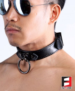 LEATHER CHOKER COLLAR CL005A