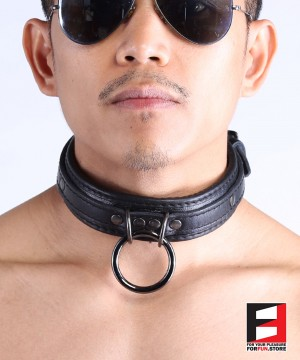 LEATHER CHOKER SUPREME COLLAR CL005B