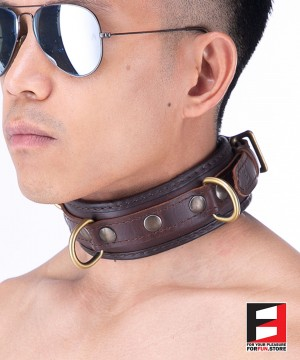 LEATHER CLASSIC COLLAR CL007