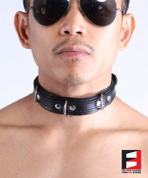 LEATHER CHOKER COLLAR CL008B