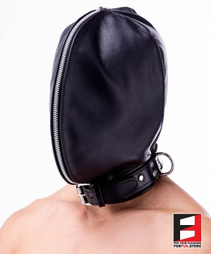 DOUBLE FACE LEATHER HOOD MA002