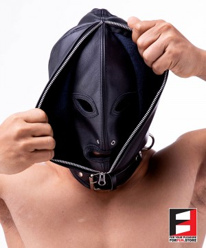 DOUBLE FACE LEATHER HOOD MA002-01