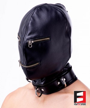 LEATHER ZIPPERS MASK MA005-01