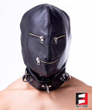 LEATHER ZIPPERS MASK MA005