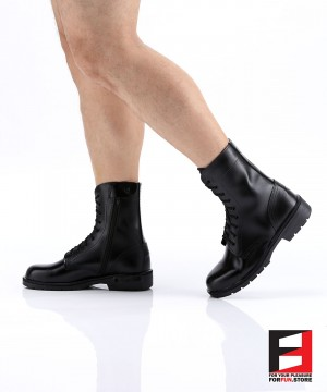 LEATHER COMBAT BOOTS TYPE J