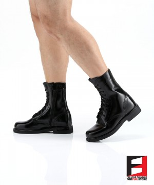 LEATHER COMBAT BOOTS TYPE P