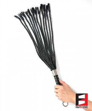LEATHER PRO WHIPS 80CM 12PLAITS WP005
