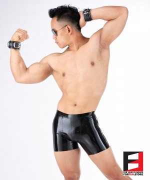 LEATHER WITH FUR WRIST RESTRAINTS WR006