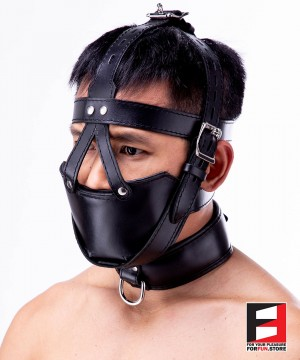 SLAVE MUZZLE WITH GAG HARNESS GH004-01