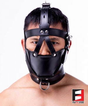 SLAVE MUZZLE WITH GAG HARNESS GH004