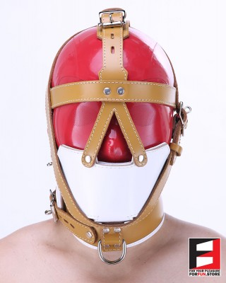 SLAVE MUZZLE WITH GAG HARNESS GH004-03MED