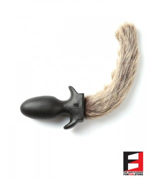 BROWN LONG FURRY PUPPY TAIL PLUG